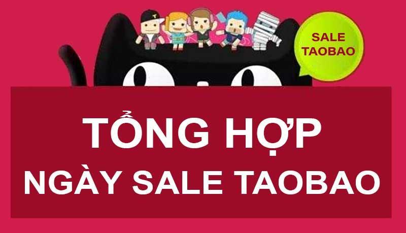 tổng hợp các ngày sale của taobao trung quốc
